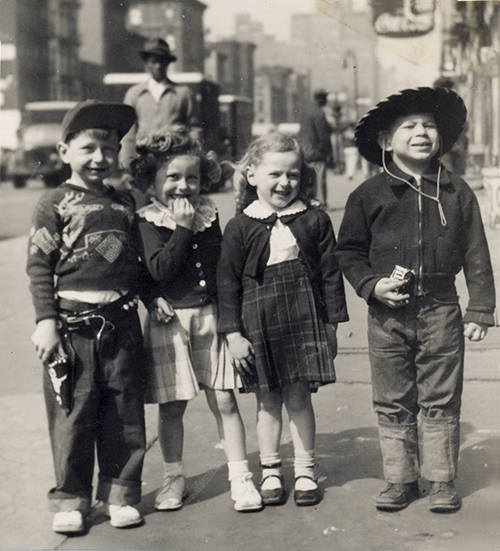 Marc with friends on 9th Avenue c. 1950